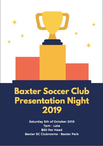 Baxter Senior Presentation Night