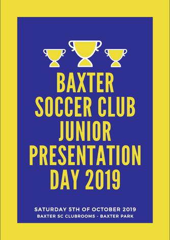 Baxter Junior Presentation Night