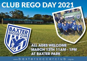 CLUB REGSITRATION DAY 2021 - MARCH 13TH