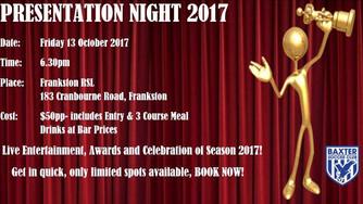Presentation Night for 2017
