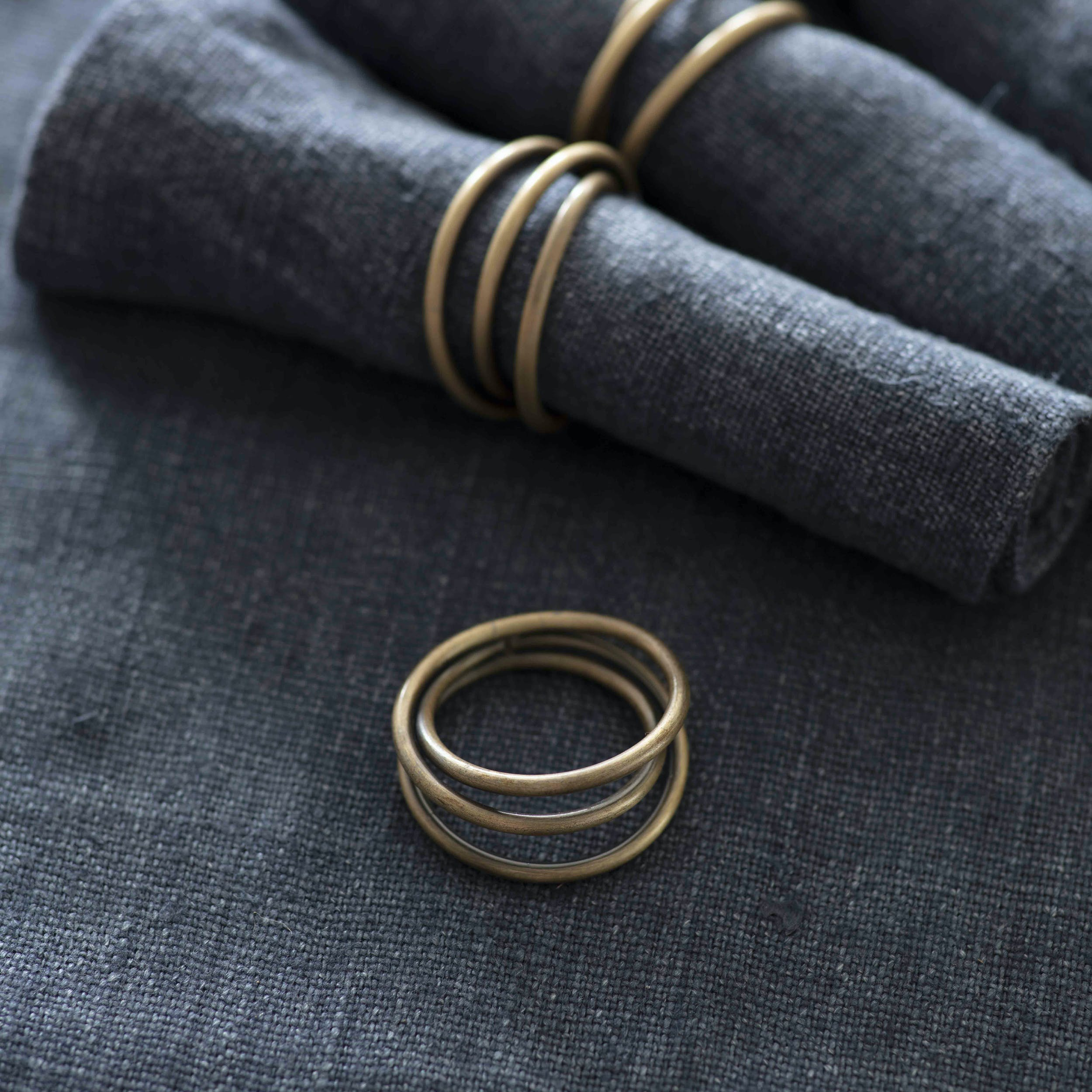 Set of 4 Brompton Napkin Rings