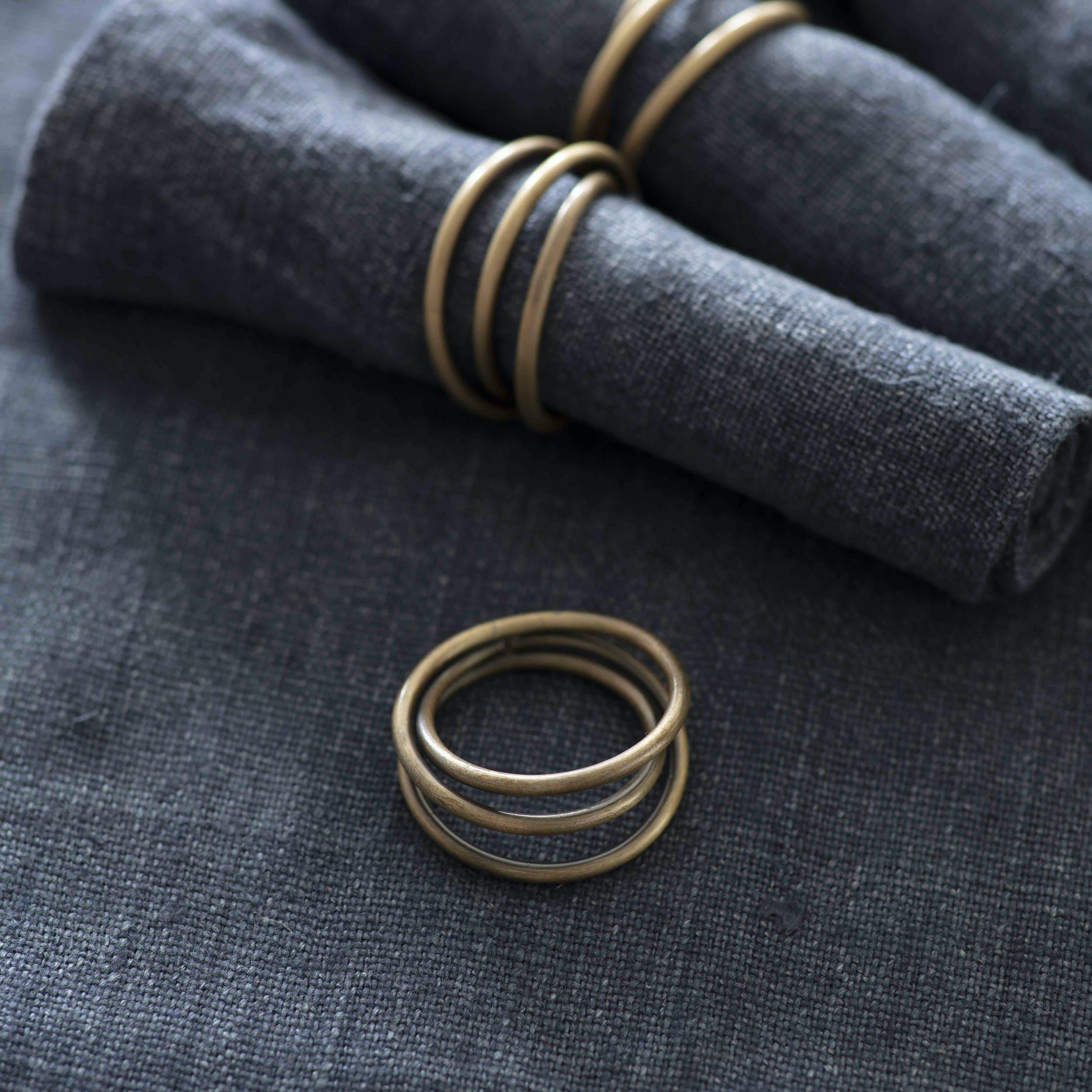 Set of 4 Brompton Napkin Rings