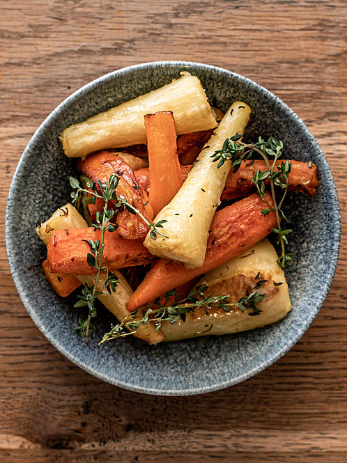 Honey Roasted Carrots & Parsnips With Thyme For Two People