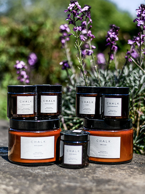 Chalk Hand poured Natural wax scented candles from £12.50