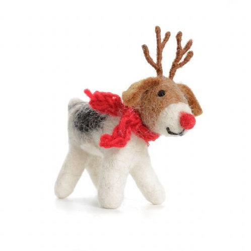 Freddie Fox Terrier With Antlers