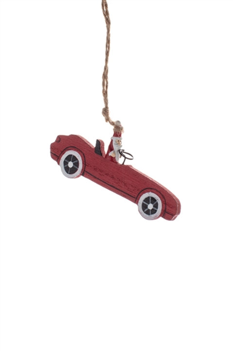 Santa in a sports car decoration