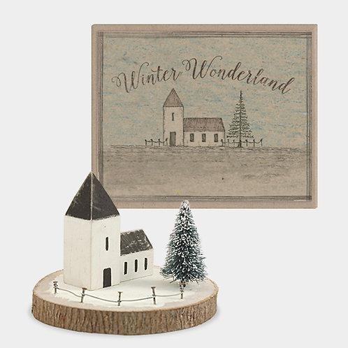 Winter wonderland-Snowy church