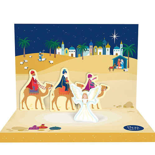 Little Town of Bethlehem Music Box Card