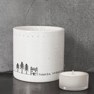 Porcelain Twinkle Twinkle Little Star Tea light
