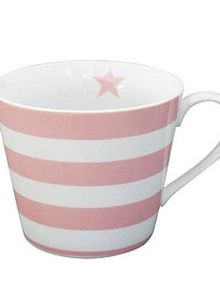Pink & White Striped Mug