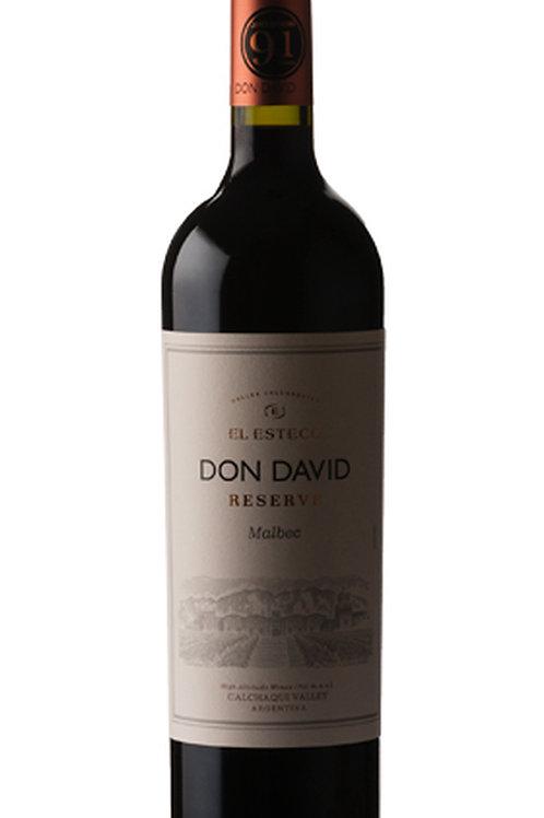 2018 Don David Malbec, El Esteco