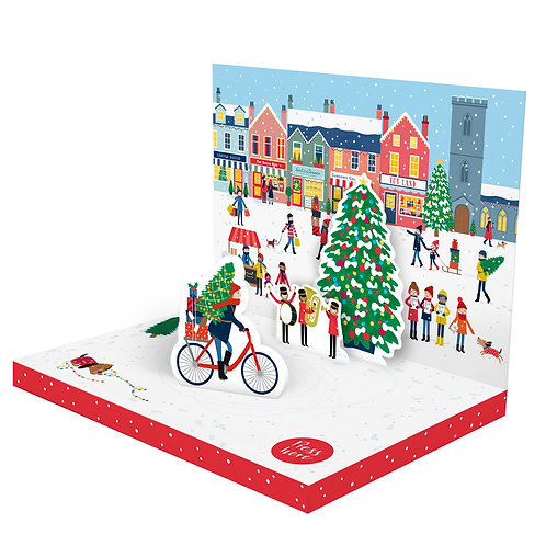 Christmas Town Music Card