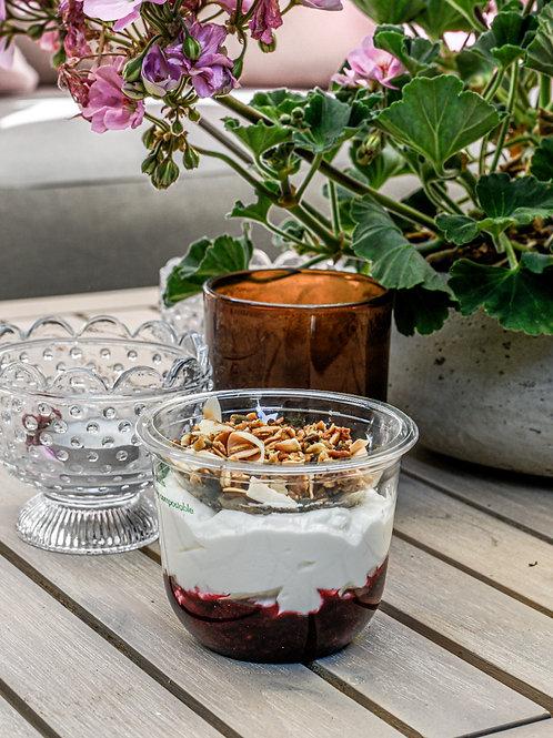 Greek Yoghurt Pot With Fruit Compote & Homemade Granola