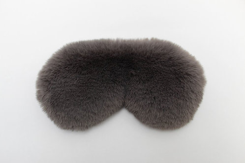 Faux Fur Eye Mask Charcoal