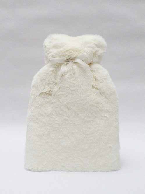 Teddy Fluffy Off White Hot Water Bottle