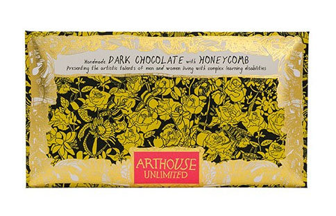 Bee Free Handmade Dark Chocolate with Honeycomb Pieces