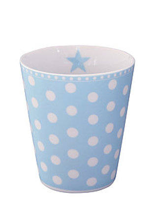 Pale Blue Dotty Beaker