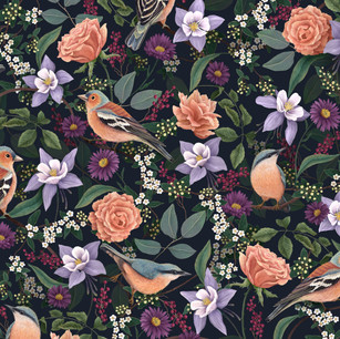 Chaffinch and Nuthatch Pattern.jpg