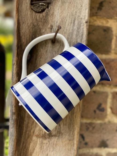 Blue & White Stripe Jug