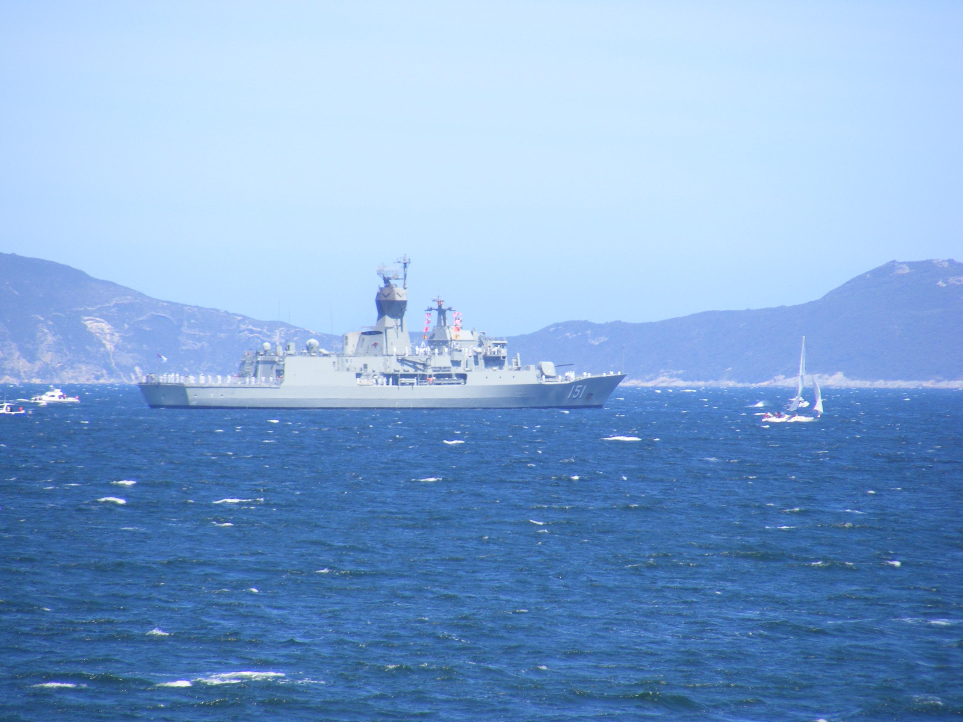 HMAS ANZAC in King Georges Sound 1 Nov 14