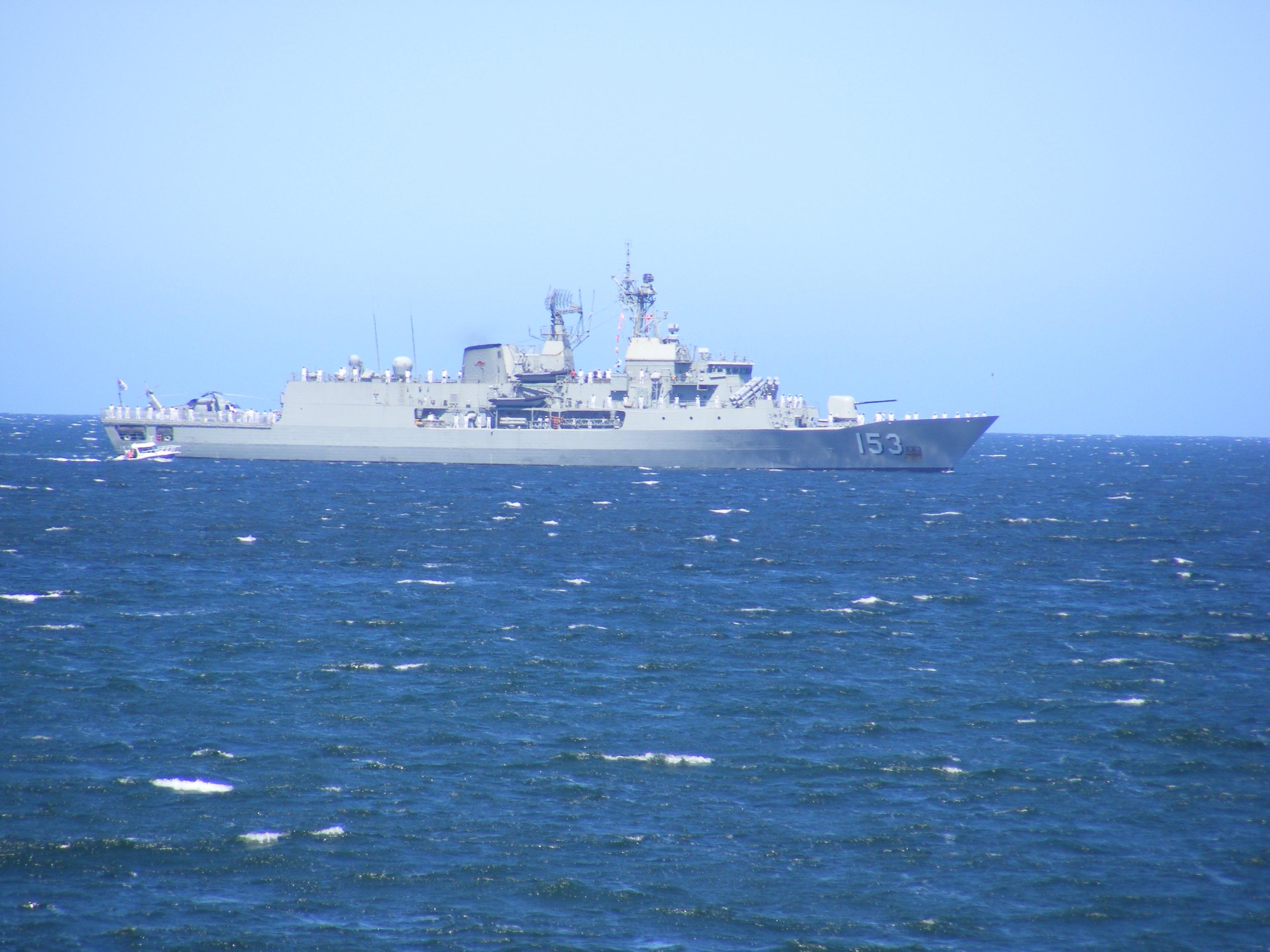HMAS STUART in King Georges Sound 1 Nov 14