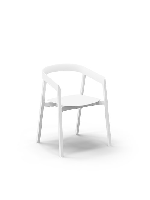 Mornington Stone Dining Chair with Aluminium Seat