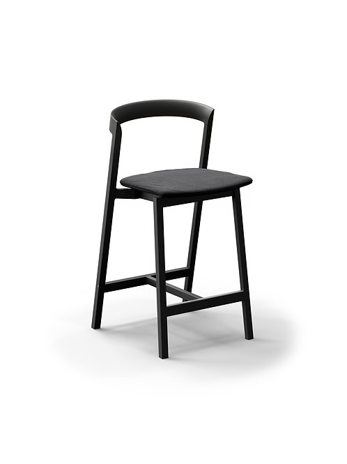 Mornington Graphite Counter Stool with Removable Seat Cushion