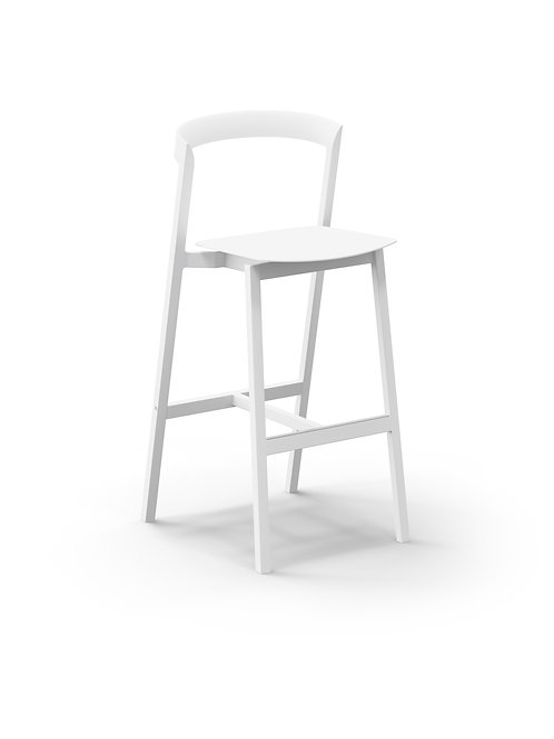 Mornington Stone Bar Stool with Aluminium Seat