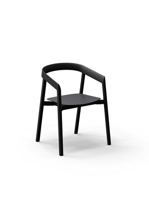 Mornington Graphite Dining Chair with Aluminium Seat