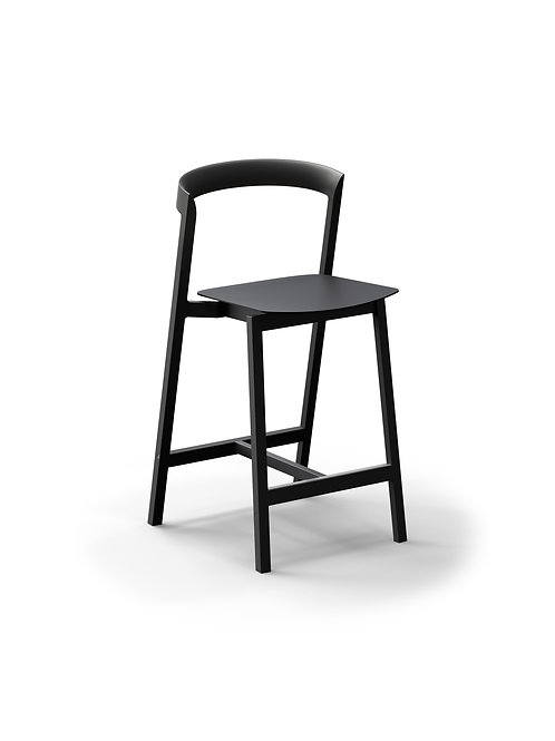 Mornington Graphite Counter Stool with Aluminium Seat