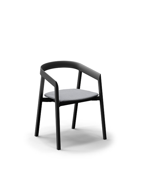 Mornington Graphite Dining Chair with Removable Seat Cushion