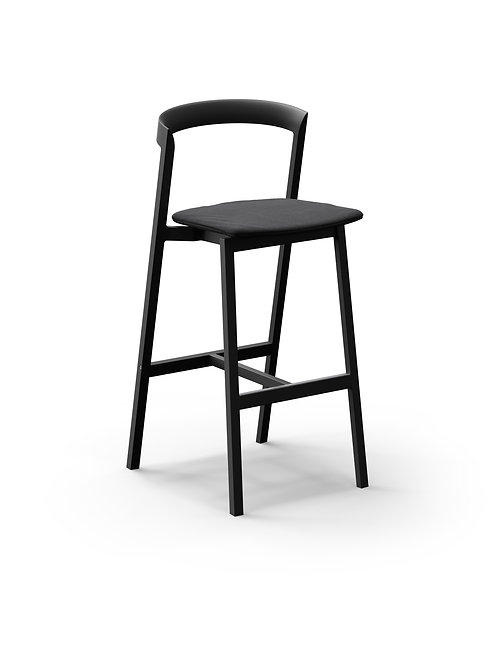 Mornington Graphite Bar Stool with Removable Seat Cushion