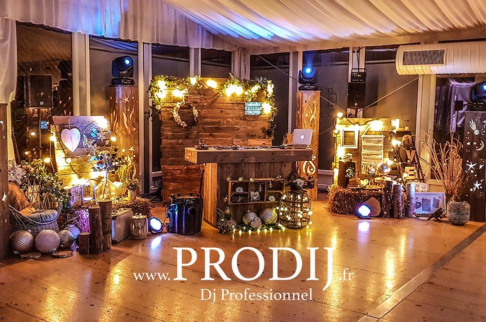 dj dijon prodij mariage décoration champêtre domaine de pont de pany