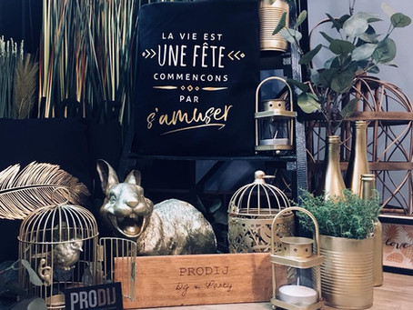 Corner PRODIJ Décoration à thème Ambiance Végétale Black & Gold