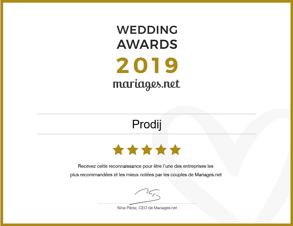 wedding awards 2019 prodij dj design mariage dijon bourgogne