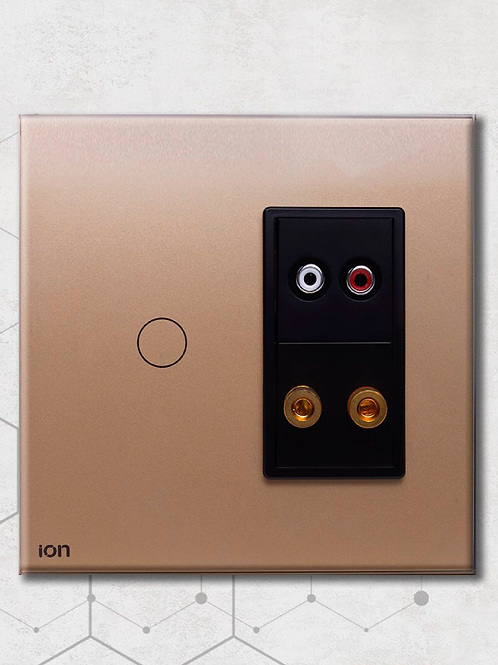 Interruptor tipo touch simple doble para RCA y cable de parlante