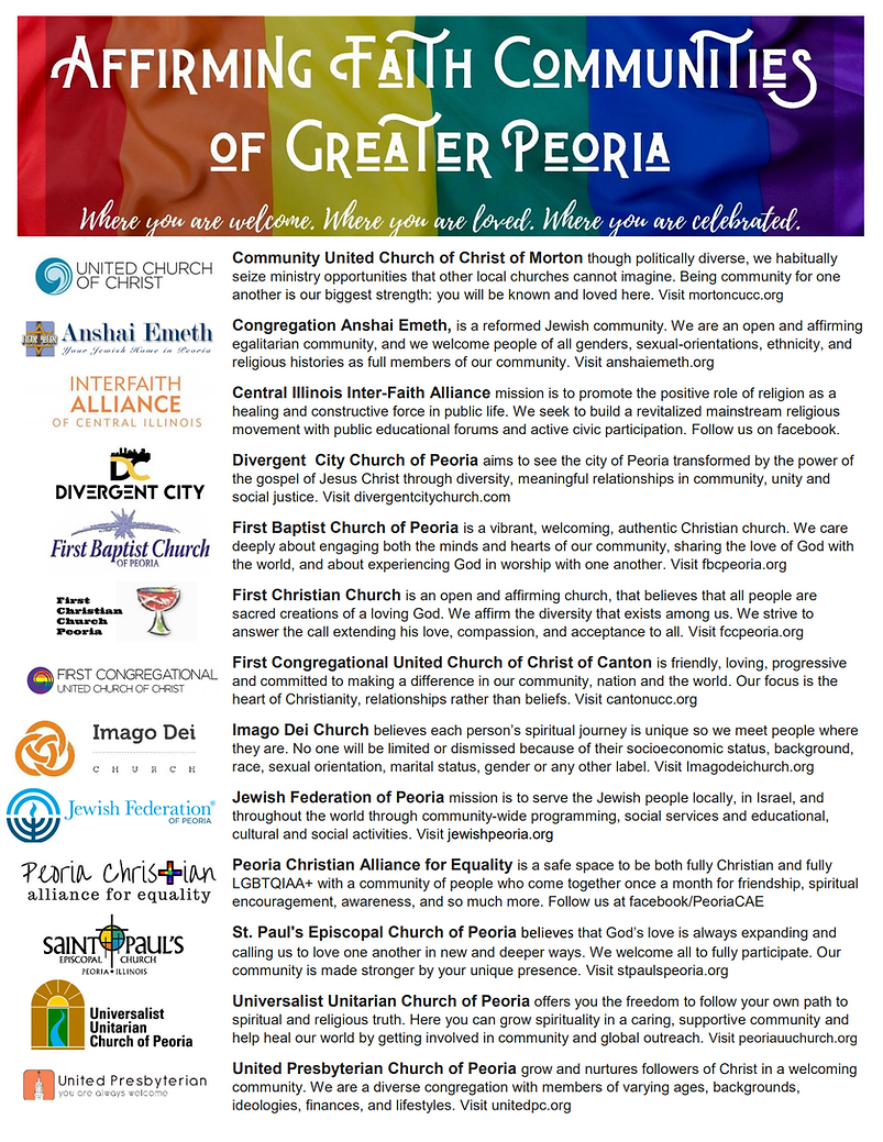 Affirming Faith Communities of Greater P
