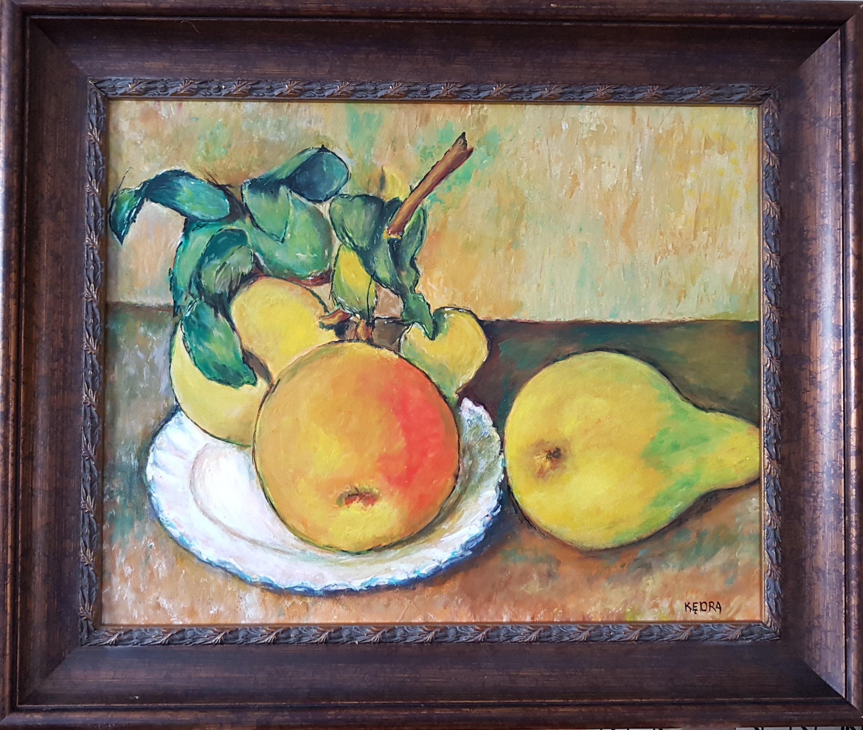 After Cezanne Apples and a Pear