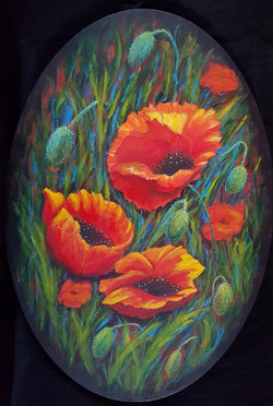 Oval Poppies
