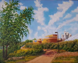 Saskatoon Water Plant 2020 Plein Air pai