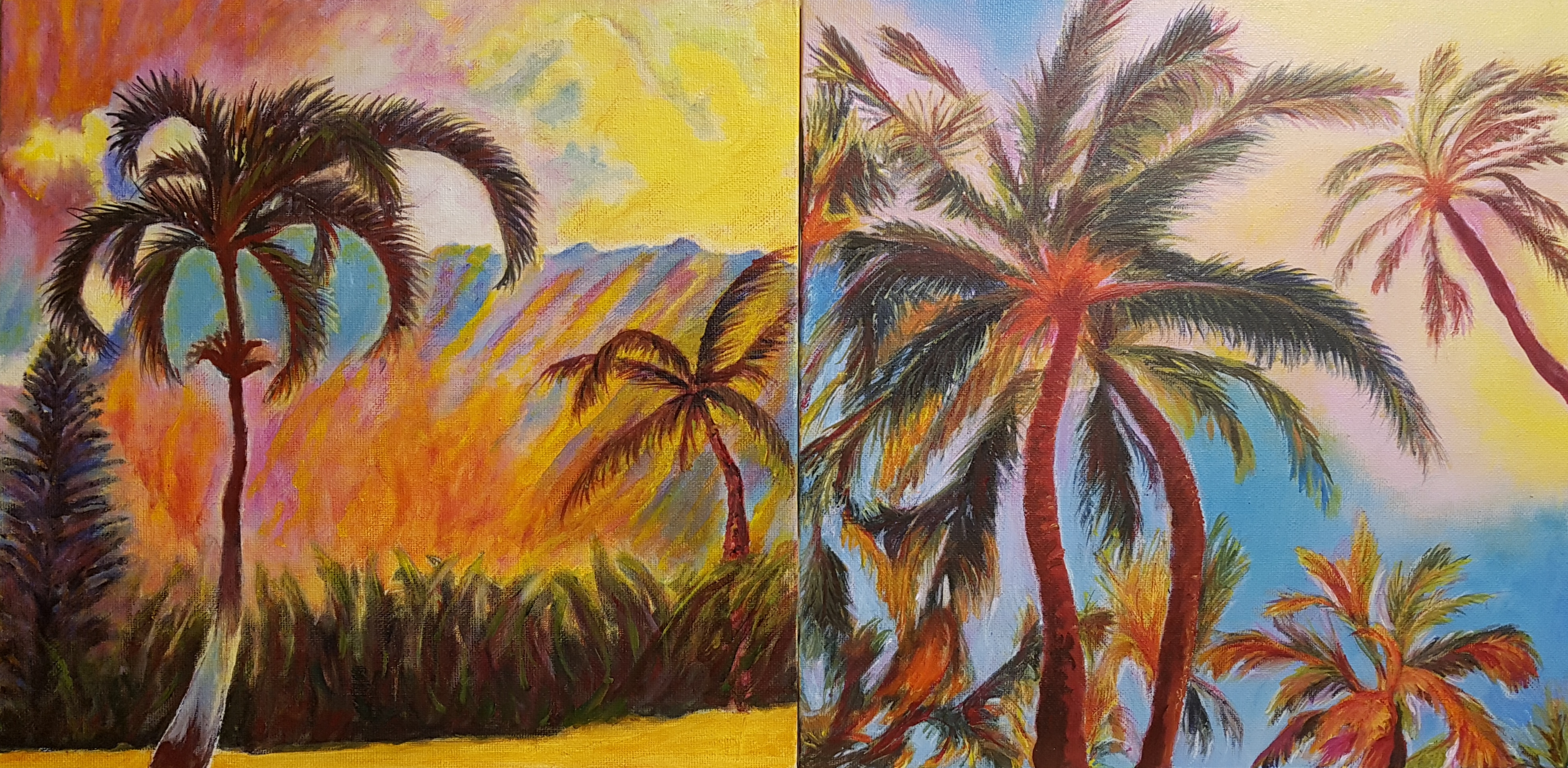 Hawaiian Dream Diptych (commission)