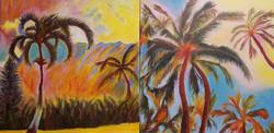Hawaiian Dream Diptych (commission)