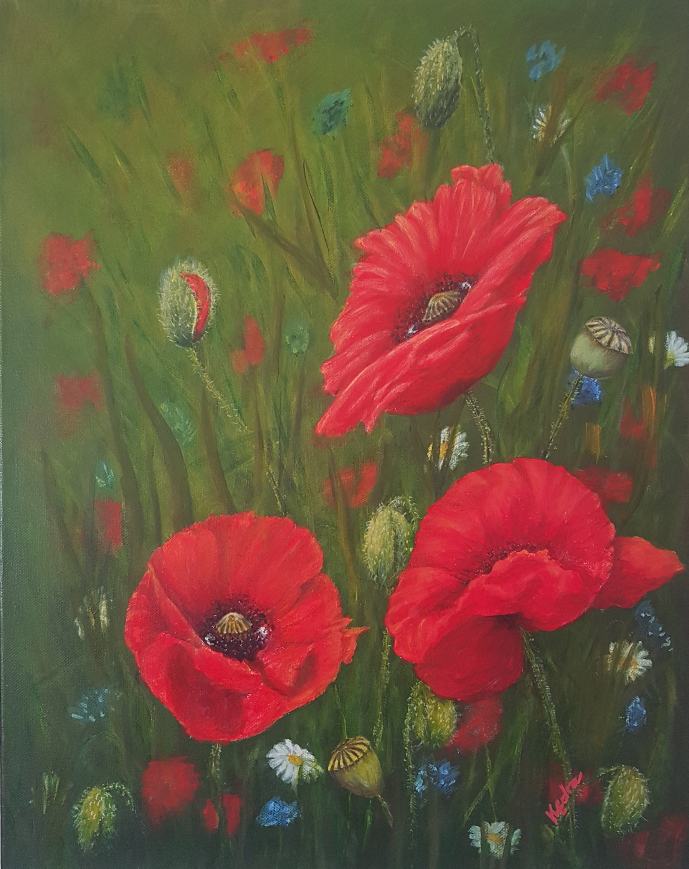 A Meadow in Red