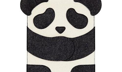 Fashion Laptop Sleeves Creative Panda Waterproof Felt Protect Case For Ipad Mini