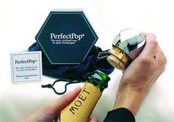 Perfect Pop Champagne Opener - Silver