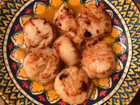 Sherry Mushrooms with Diver Scallops