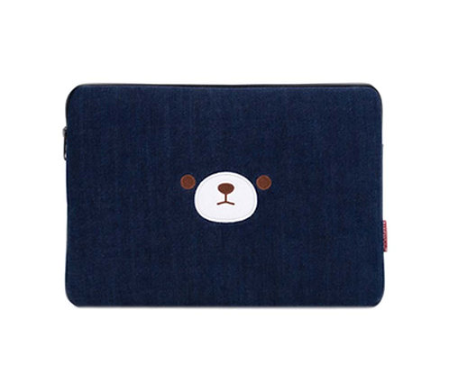 Cartoon Laptop Bag Cute Liner Package Zipper Handbag Funky Laptop Sleeves,Bear