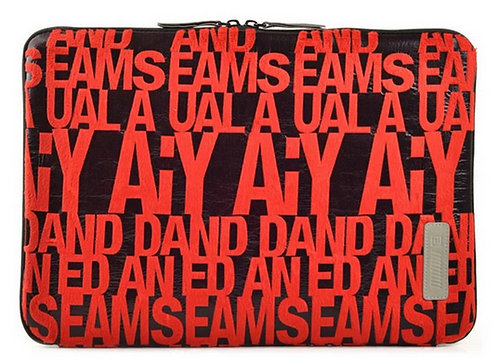 New Style 13 Inch Laptop / Notebook Computer / MacBook Sleeve RED Letters