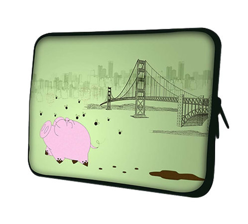 Cute Pig Pattern Laptop/Tablet Computer Bags, Protective Sleeves