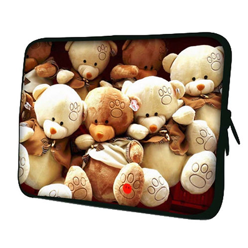 Cute Bear Pattern Laptop/Tablet Computer Bags, Protective Sleeves